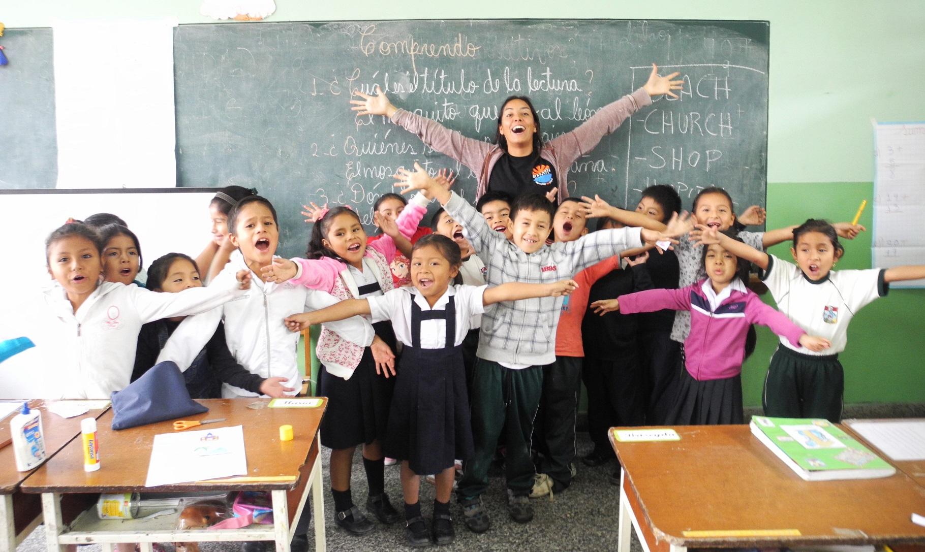 English teacher at María del Socorro School.